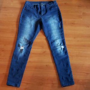 Brand new HUE denim jeans distressed leggings jean